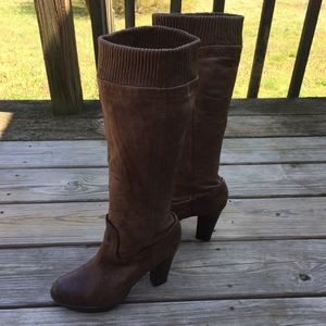 Frye Genuine Leather Mimi scrunch boots
